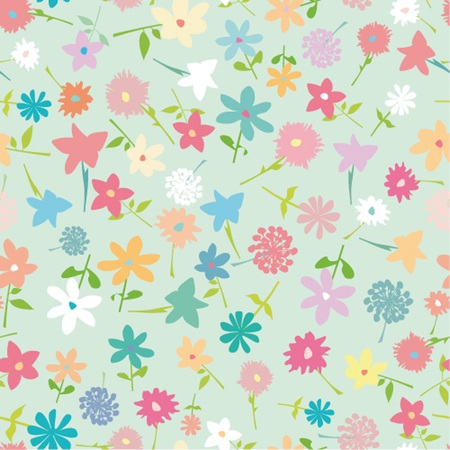 simple background: Seamless simple flower background