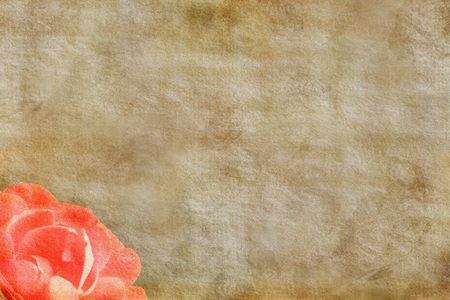 romantic: Romantic paper with rose