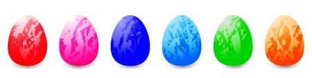 horizontally: Easter eggs horizontally Stock Photo