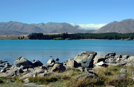 Mount Cook in New Zealand on a blue day Stock Photo - 5965756