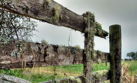 an old wooden fence