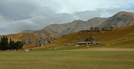 Farm in a New Zealand landscape