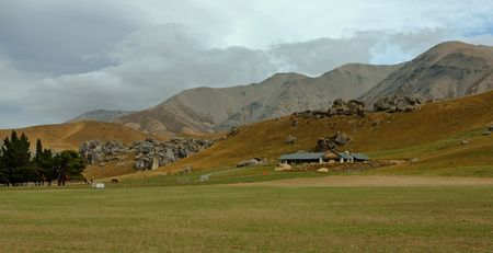 Farm in a New Zealand landscape