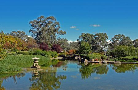 a japanese garden in Cowra, Australia