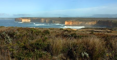 12 Apostles, Great Ocean Road, Victoria, Australia on a cloudy morning