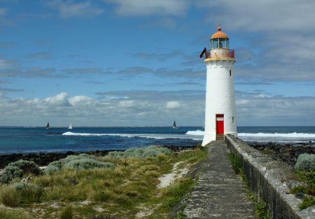 Port Fairie Lighthouse Stock Photo