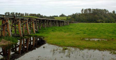 An abandoned train rail
