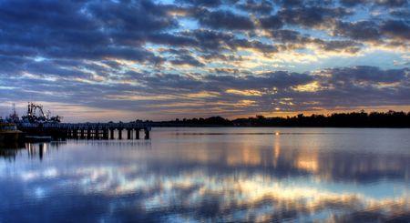 Sunrise over Lake Entrance, Australia