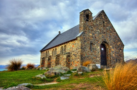The Church of the Good Shepherd on Lake Tekapo, New Zeland Stock Photo - 12750858