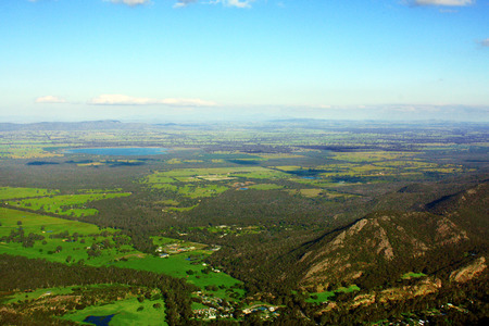 a view of the Grampians National Park in Victoria, Australia Stock Photo