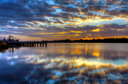 Sunrise over Lake Entrance, Australia