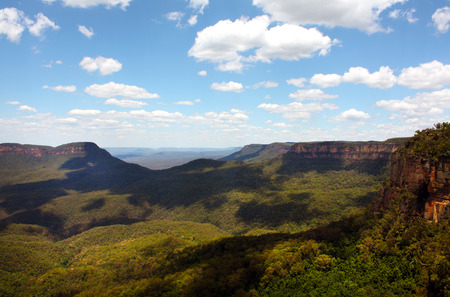 view of the Blue Mountains in Australia
