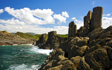 a view of Bombo Headland in Kiama, Australia