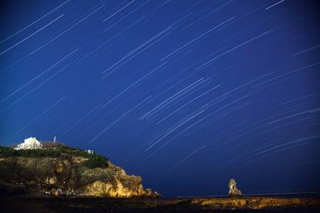 trajectory: Trajectory of star Stock Photo