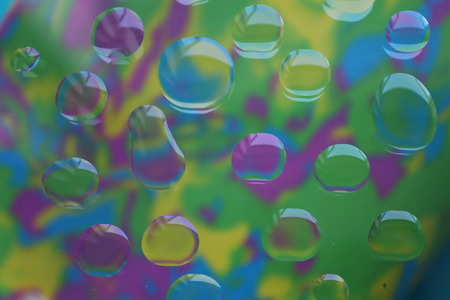 Oil on glass abstract images