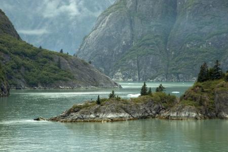Tracy Arm Fjords, Alaska 版權商用圖片