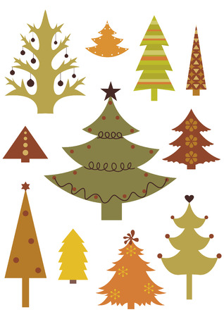 set of christmas trees Stock Vector - 3836668