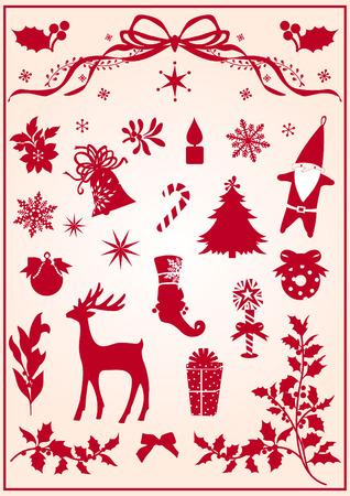 christmas elements Stock Vector - 3836664