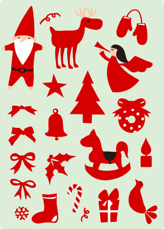 christmas elements Stock Vector - 3836634