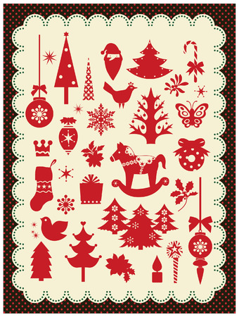 christmas elements Stock Vector - 3901805