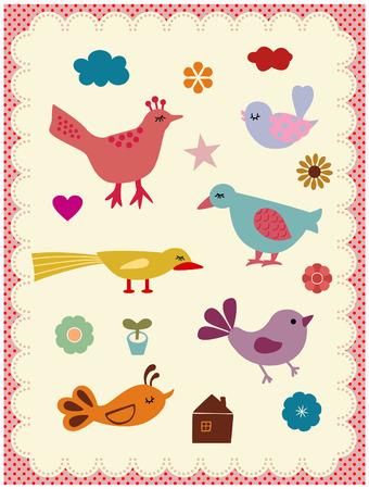 Cute birds Stock Vector - 3954740