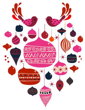 pájaro y bolas Ilustración de vector