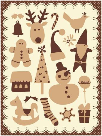 christmas elements: cute christmas elements Illustration
