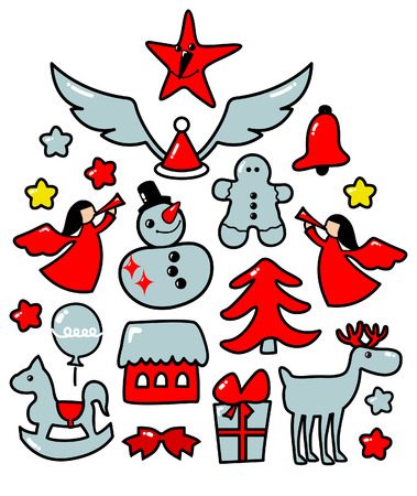 cute christmas elements Stock Vector - 3966920