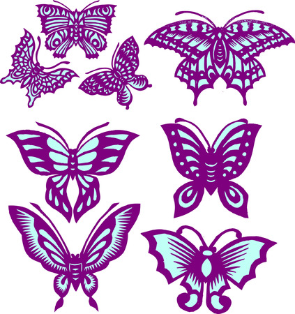 free vector art: Butterflies