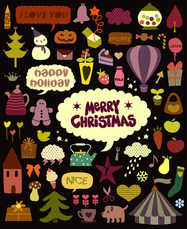 cute holiday elements Stock Vector - 4010931