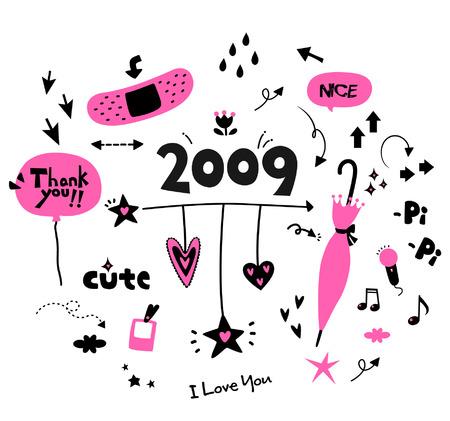 cute 2009 Stock Vector - 4117620
