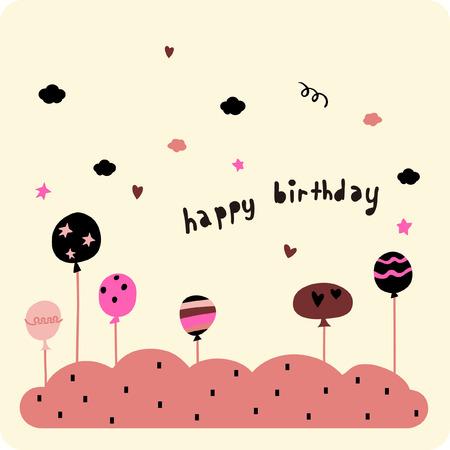 clumsy: birthday card Illustration