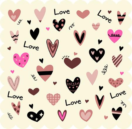 pink hearts:  hearts   Illustration
