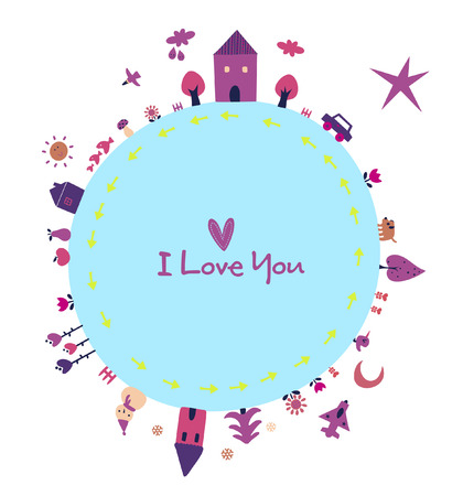 love earth Vector