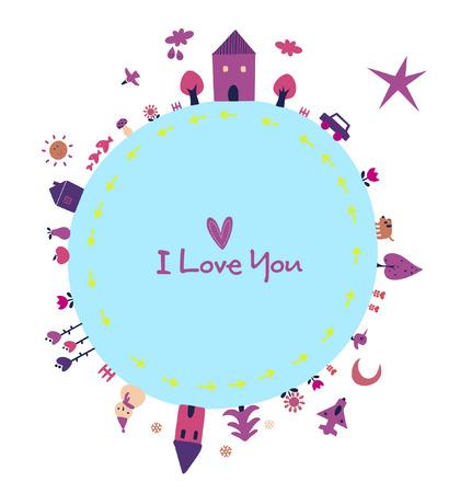 moon flower: love earth Illustration