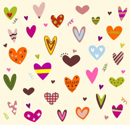 hearts background Stock Vector - 4218898
