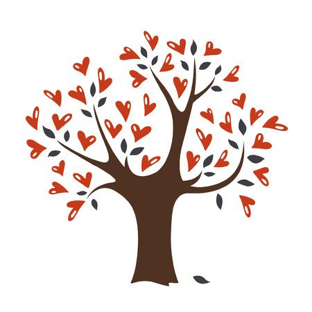 valentines day(tree) Vector