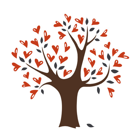 valentine's day(tree) Stock Vector - 4218896
