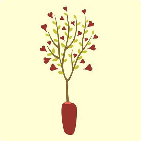valentine's day(tree) Stock Vector - 4218868