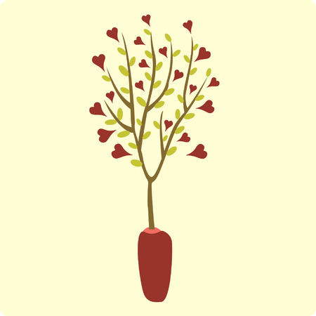 valentines day(tree) Vector