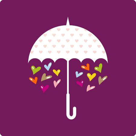 vector ornaments: valentines day(umbrella)