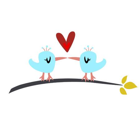 valentine's day(birds) Stock Vector - 4259258