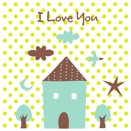 valentine's day(house) Stock Vector - 4259261