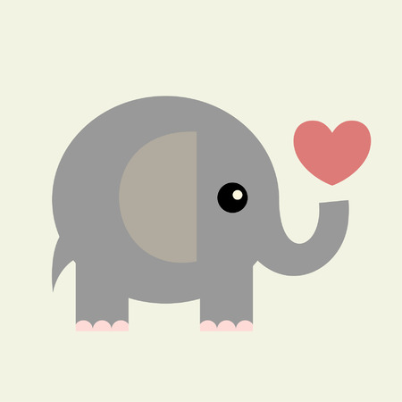 symbol vector: vector valentine card(elephant) Illustration