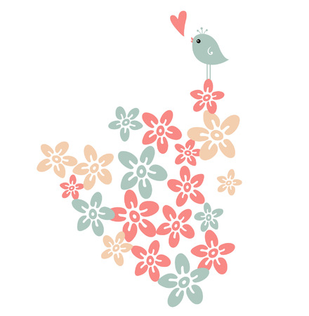 flower and bird Stock Vector - 4309396