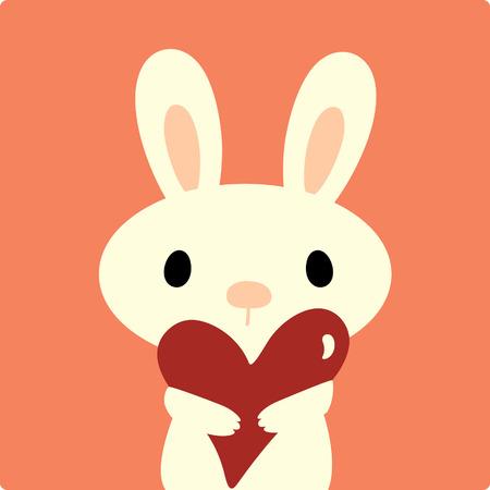 conejo vector con amor