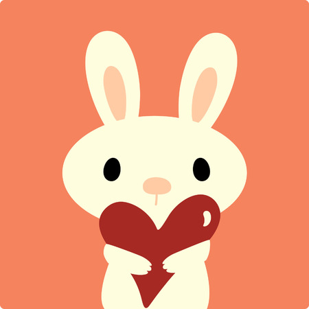 cute rabbit: vector rabbit with love