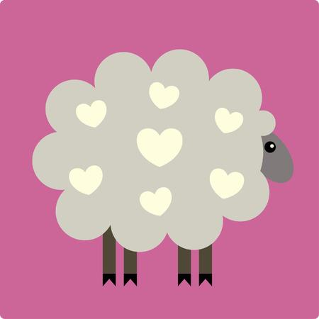 Vector Illustration of Sheep Vector