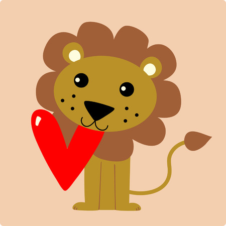 A vector illustration of a cute lion Vector