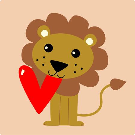 shape cub:  A vector illustration of a cute lion